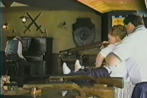Gary helping his son at the Battlements Shooting Gallery.