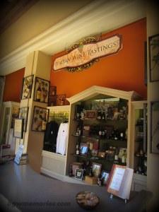 The Bella Casa Wine Tasting area.