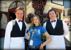 My amazing French Waiters.