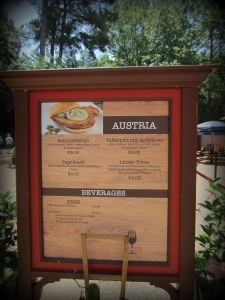 Menu Options of Austria
