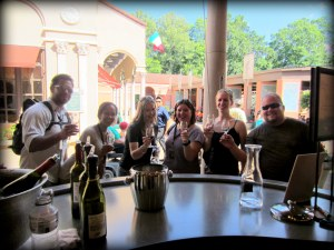 It is always fun to drink wine with friends both old and new!