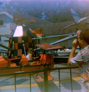 Me flying the red Baron plane.