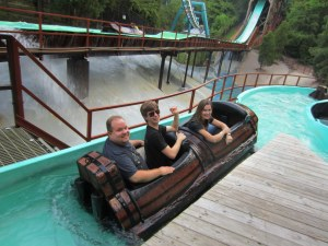Having fun on the flume!