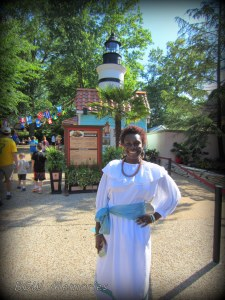 Tara welcomes you at the Caribbean kiosk.