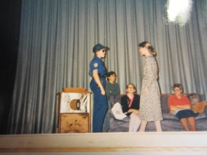 Performing in Drama.