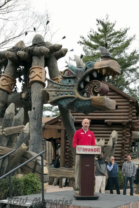 Park President David Cromwell announces Invadr is now open!